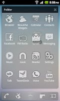 Screenshot of Sense Glass ADW Theme