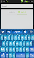 Screenshot of Shiny Blue Keyboard