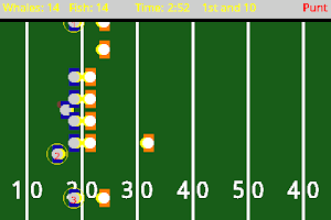 Screenshot of Go Long! Football: High Scores