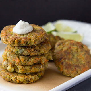 Curry Chia Burgers with Dill Cashew Cream