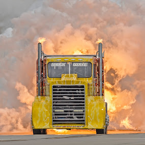 Feel The Heat by Clifford Martin - Transportation Other ( shockwave, shockwave jet truck, jet truck, truck )