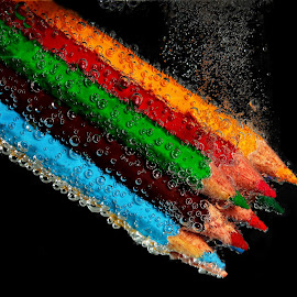 sinking color in the dark by Leo Angelo Ignacio - Artistic Objects Education Objects