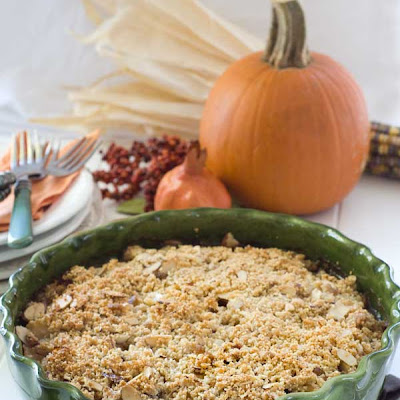 Gluten Free Pear Cranberry Almond Crumble