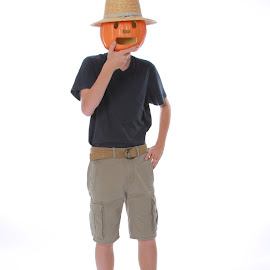 Cole Pumpkinhead by Spacer Conrad - Novices Only Portraits & People ( pumpkin, teen, boy, hat )