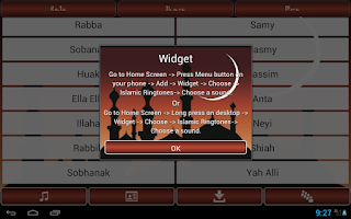 Screenshot of Popular Islamic Ringtones