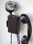 Wall Phones - Kellogg Select O Phone Brown