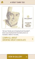 Screenshot of Callebaut - Calletizer™