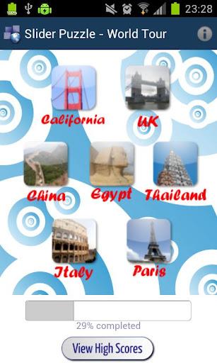 Slider Puzzle - World Tour