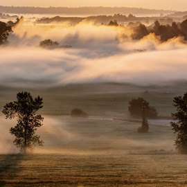 The morning mist by Pavel Kinšt - Landscapes Sunsets & Sunrises ( sunrise, morning, mist )