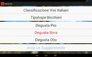 Screenshot of Degusta Vino