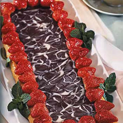 Marbled Chocolate and Strawberry Galettes