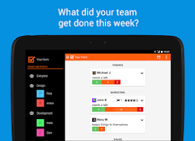 Screenshot of Weekdone - weekly team reports