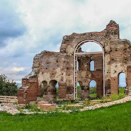 Red church  by Daniel Chobanov - Buildings & Architecture Public & Historical ( christian, byzantine, red church, perushtitsa, ruins, basilica, bulgaria )