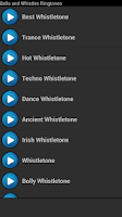 Screenshot of Bells and Whistles Ringtones