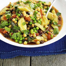 Vegetable Tagine With Chickpeas & Raisins