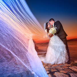 wedding by Dejan Nikolic Fotograf Krusevac - Wedding Bride & Groom ( dunav, smederevo, vencanje, zalazak sunca, beograd, svadba, fotograf )
