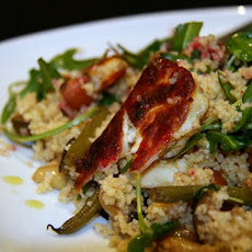 Halloumi And Balsamic Roasted Vegetable Couscous Salad