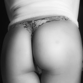 White Jacket by Antonio Gansa - Nudes & Boudoir Boudoir ( body, body parts, black and white, woman, skin,  )