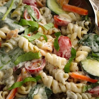 Ranch Spinach Pasta Salad