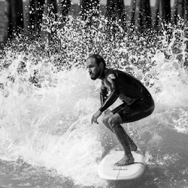 by Chuck Kelly - Sports & Fitness Surfing ( hang10, san diego, cali, surfing, california, waves, surf )