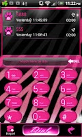 Screenshot of Go Contacts - Pink Zebra Theme