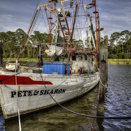 Pete & Sharon by Ron Maxie - Transportation Boats