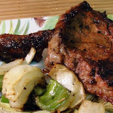 Skewered Steak With Vegetables