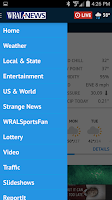 Screenshot of WRAL News App
