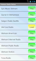 Screenshot of Vietnam Radio Online