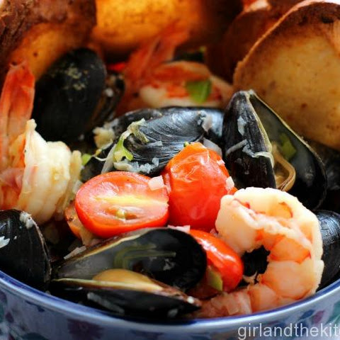 Tuscan Mussels and Shrimp