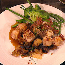 Rabbit With Prunes, Chestnuts And Sherry
