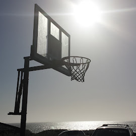 by Cameron Hunsinger - City,  Street & Park  Neighborhoods ( basketball, monterrey, sun )
