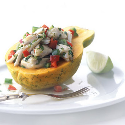 Thai-Style Crab Salad in Papaya
