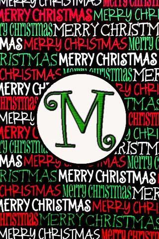 聖誕節的Monogram中號直播可濕性粉劑