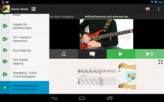 Screenshot of Guitar Solo SHRED VIDEOS LITE