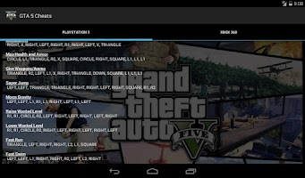 Screenshot of GTA 5 Cheats - PS3 and Xbox