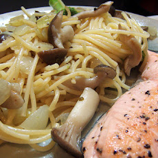 Grilled Salmon and Spaghetti