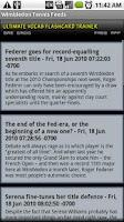 Screenshot of Wimbledon Tennis Feeds RSS