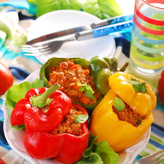 Beef-Stuffed Bell Peppers