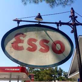 Old gas sign by Terry Linton - City,  Street & Park  Historic Districts (  )