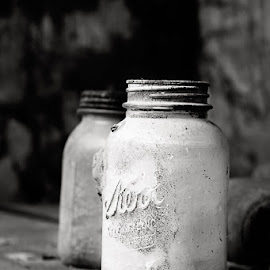 Old jars by Cynthia Linderbeck - Novices Only Objects & Still Life (  )