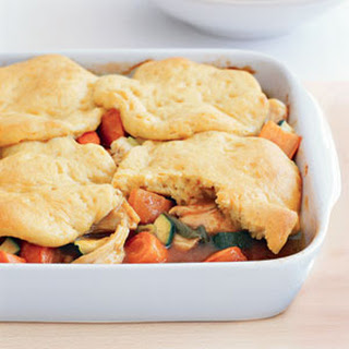 Turkey Potpie with Biscuit Crust
