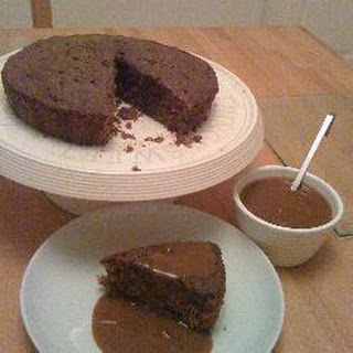 Instant Coffee Cake with Coffee Sauce