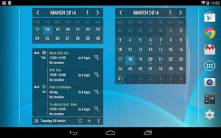 Screenshot of Calendar Widget Month + Agenda