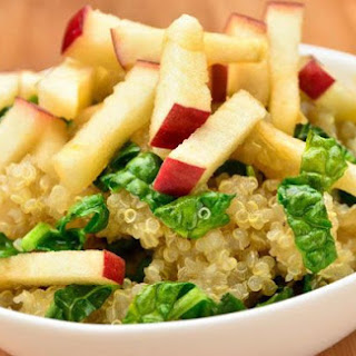Warm Quinoa Kale and Apple Salad