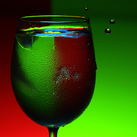 Drink with Color by Sanjib Paul - Abstract Water Drops & Splashes ( waterdrop, color, ice, alcohol, food, drink )