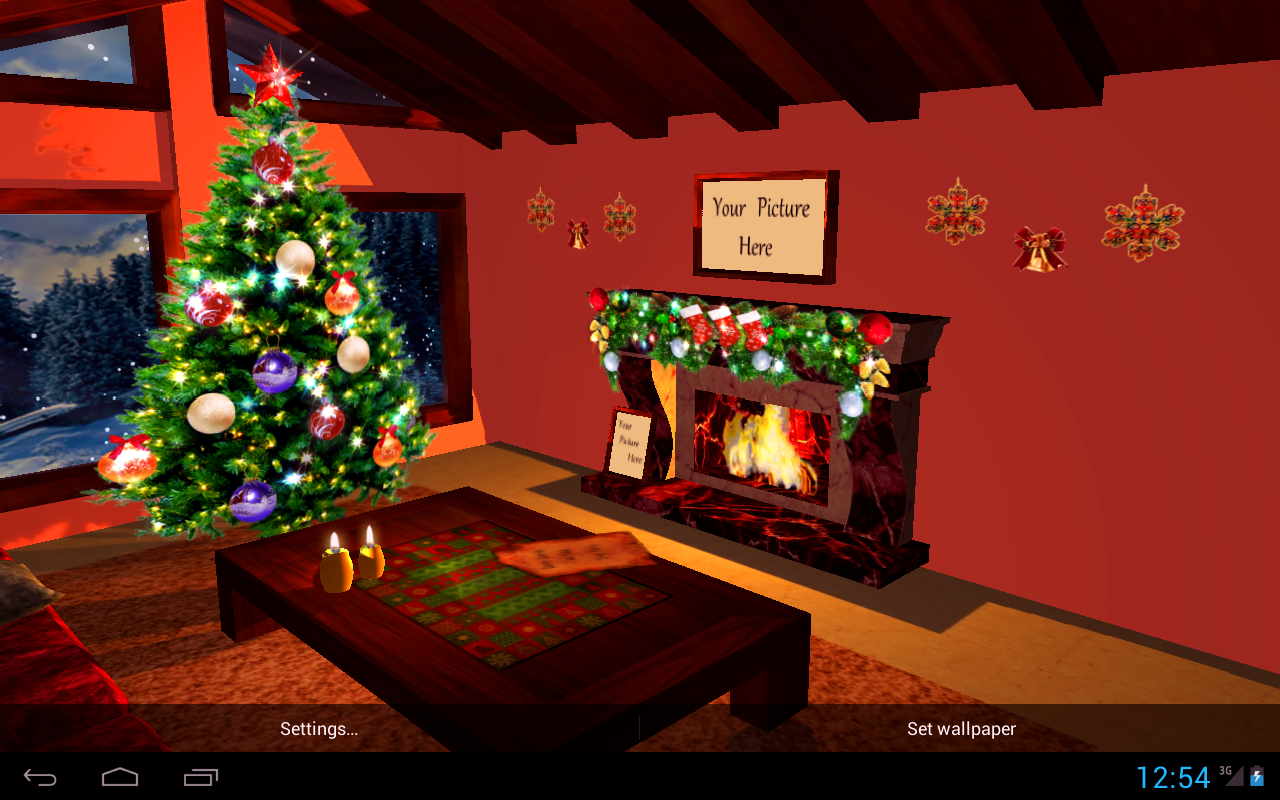 3D Christmas Fireplace HD Full Screenshot 10