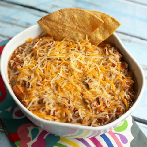 Beef and Bean Dip with Chile Peppers