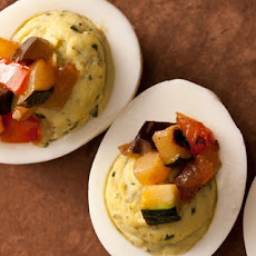Pistou Deviled Eggs with Ratatouille Recipe