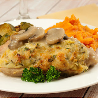 Turkey Tenderloins with Stuffing and Mushroom Gravy